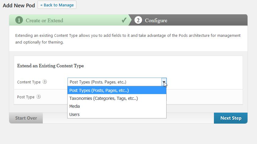 Pods - Missing comment extension option 1