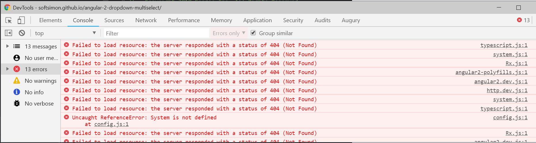 Demo Not Working · Issue #442 · softsimon/angular-2-dropdown