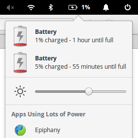 Battery percentage is only based on primary battery even if