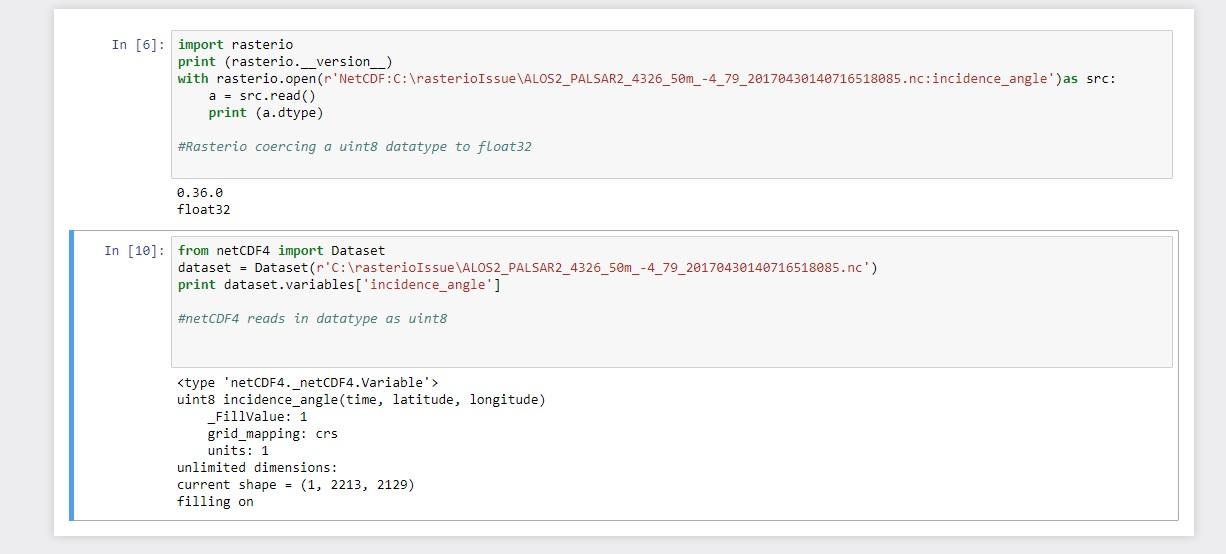 Rasterio coerces netCDF uint8 data to float32 · Issue #1380 · mapbox