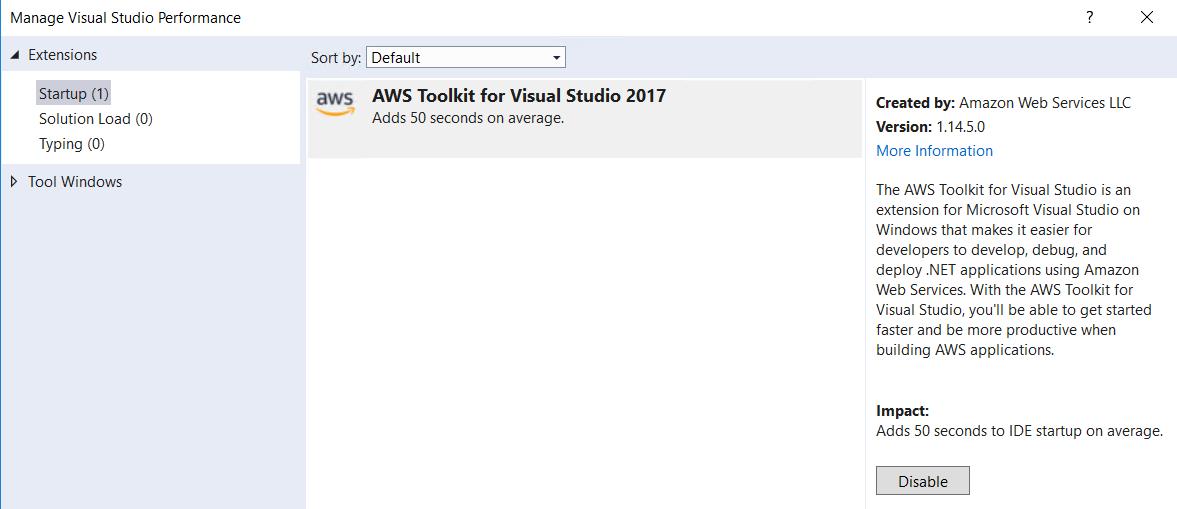 AWS Toolkit is super-slow · Issue #14 · aws/aws-toolkit