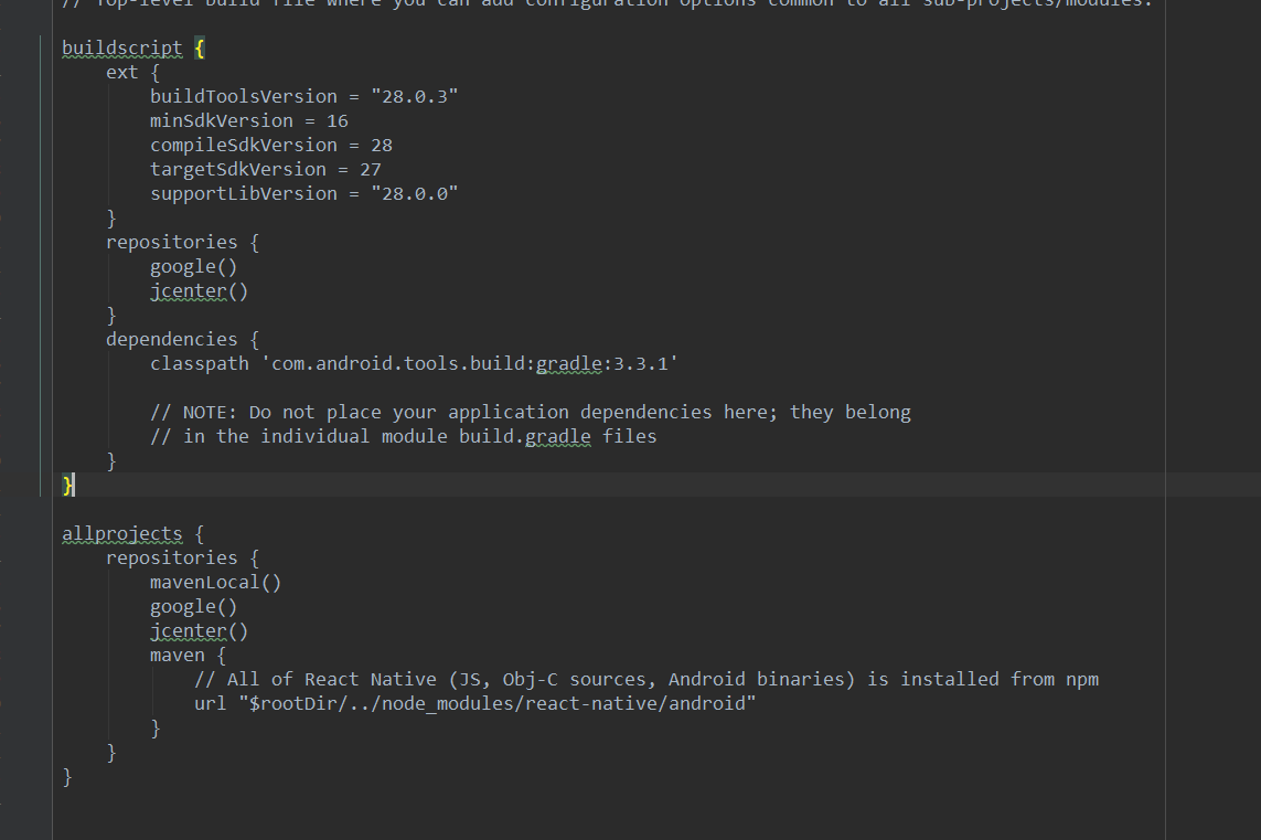 react-native run-android) -> Error: Command failed