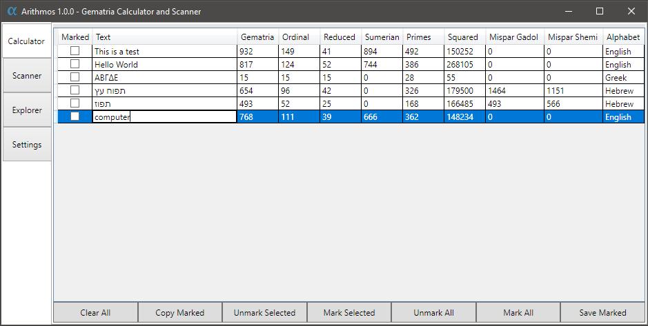 GitHub - dlascelles/Arithmos: A Gematria calculator for Windows  Use