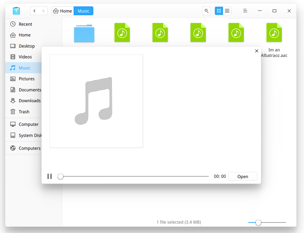 Music's preview progress bar, does nothing! · Issue #1341