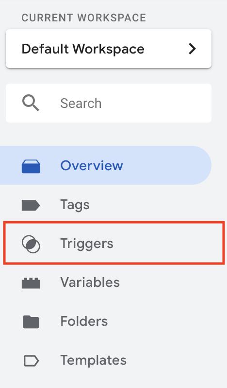 GTM-triggers-menu