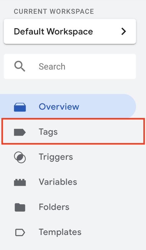 GTM-tags-menu