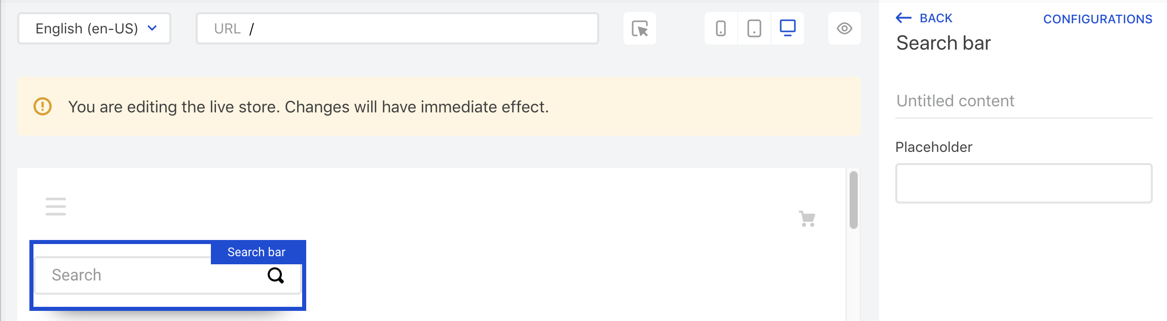 search-bar-site-editor
