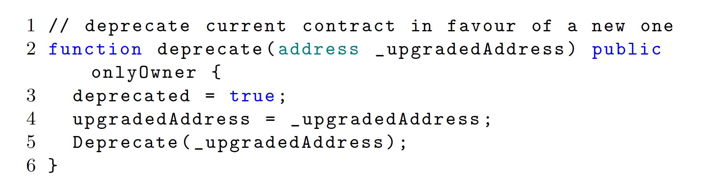 그림 3. Deprecation 코드