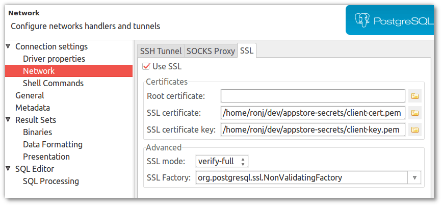 ssl connection to Google Cloud SQL (MySQL) not working