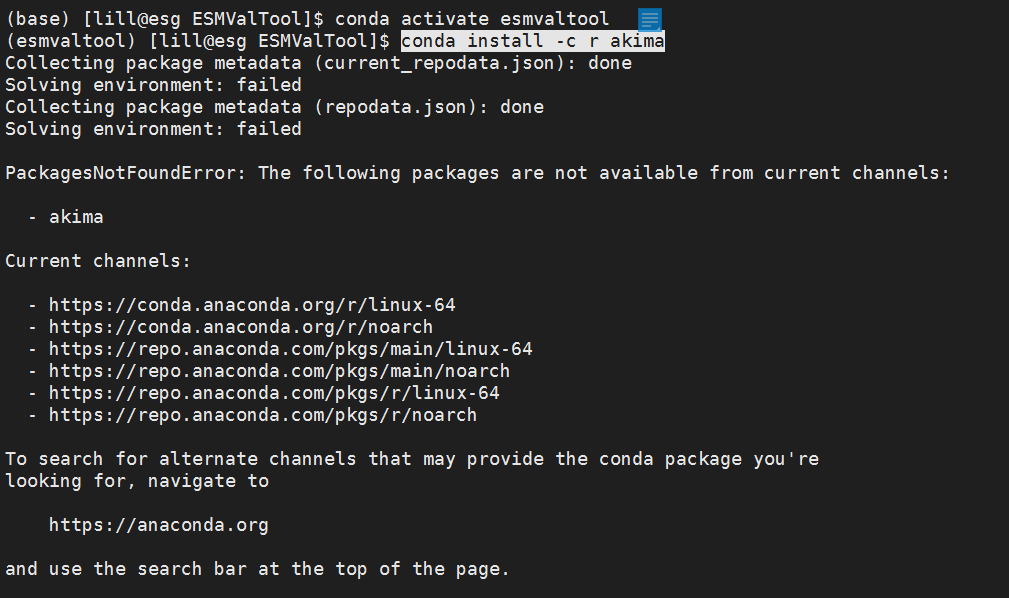 Failed to Install the R dependency packages using