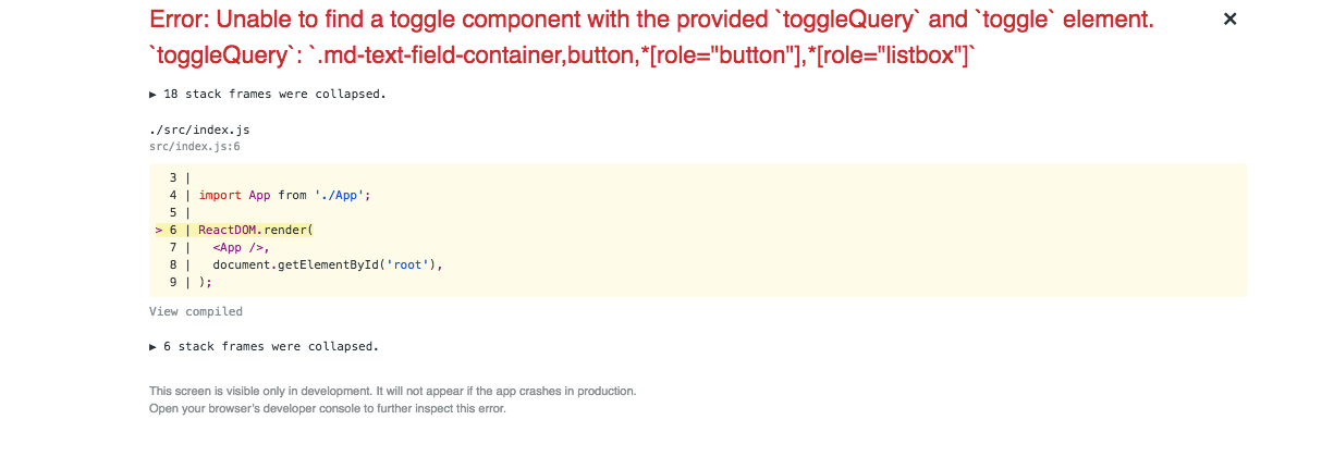 Layover] - Upgrading to 1 1 1 throws error regarding toggle