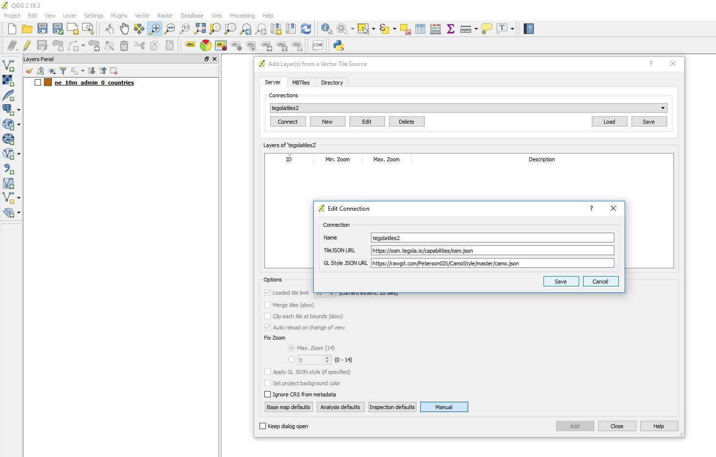 Figure out why QGIS Vector Tiles Reader compatibility plugin is not