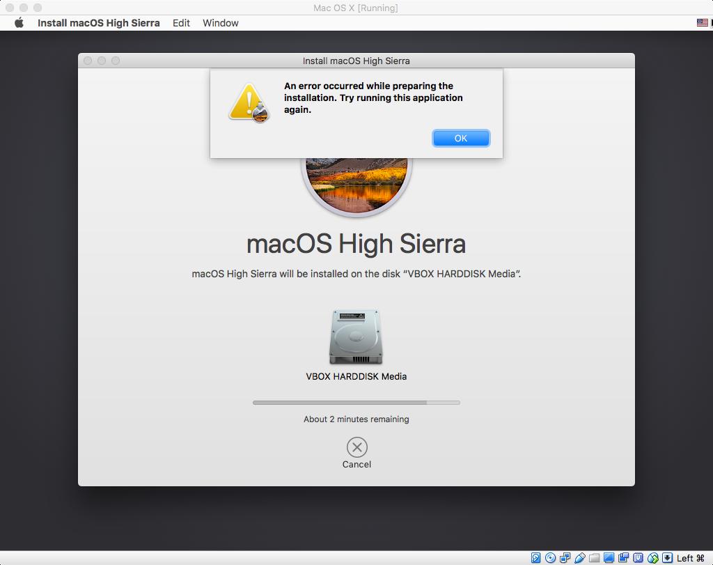 Unable to install High Sierra · Issue #53 · geerlingguy
