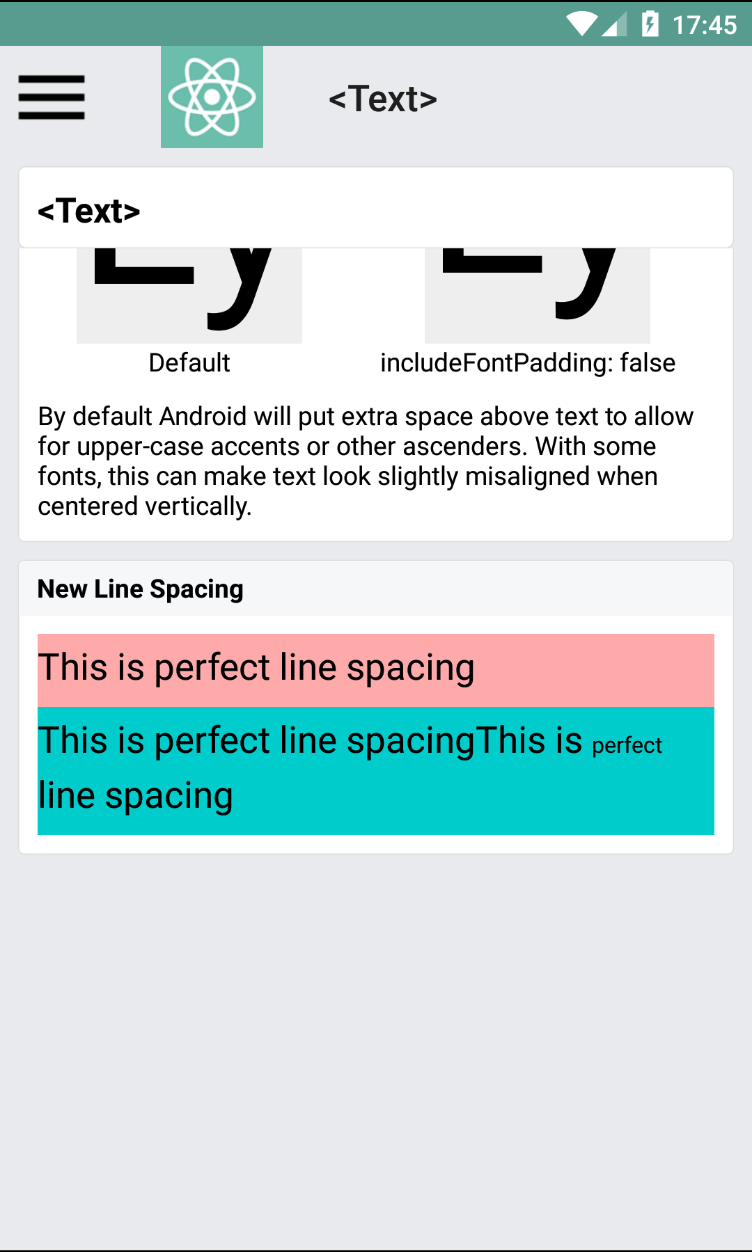 Lineheight behaves differently on ios and android · Issue #10712 ...