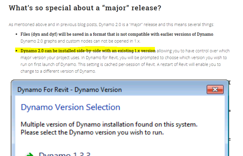 Dynamo does not support 2016 and 2019 simultaneously · Issue #2011