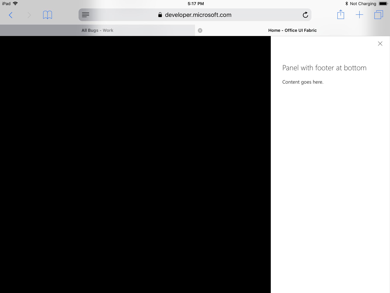 Panel: Footer bottom is cut on Safari / iOS · Issue #5423