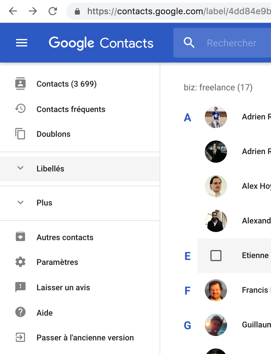 Also support the old UI version of Google Contacts · Issue #3