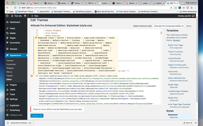 Update button disabled on error  · Issue #95 · WordPress