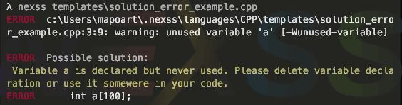 nexssProgrammer-errorSolutionExample