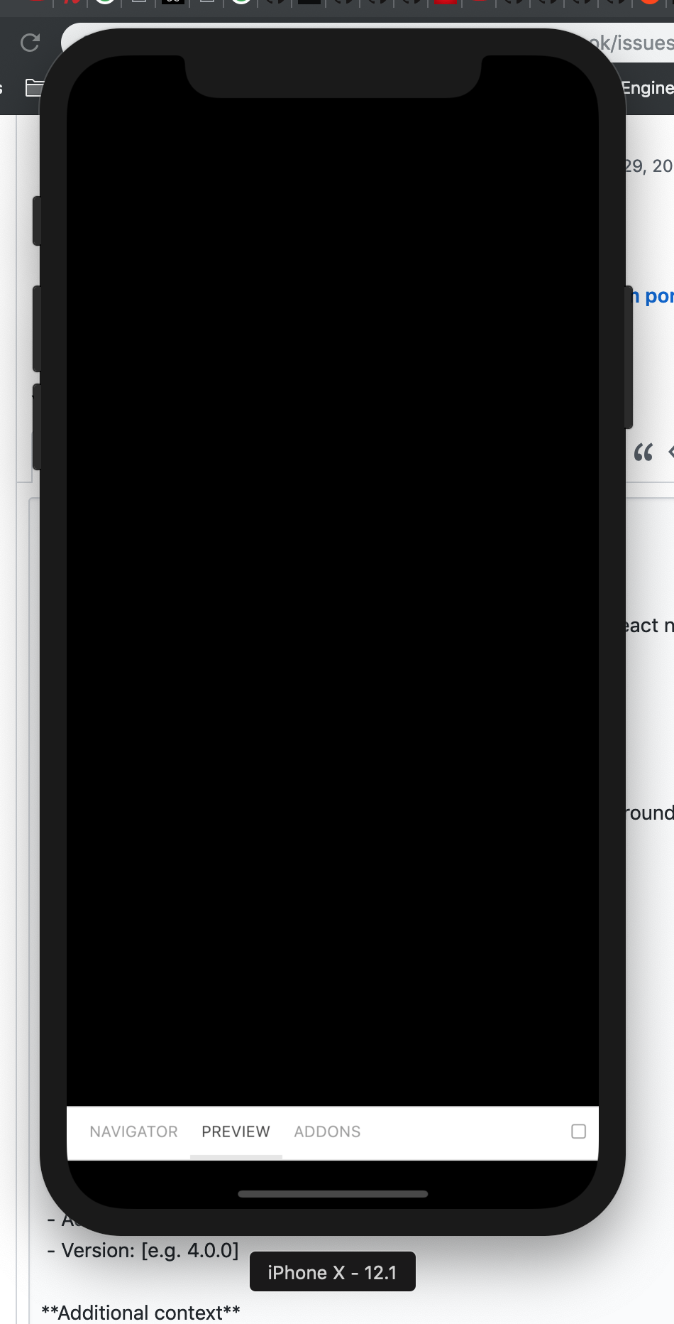 Default text and background are the same color on react native 0 58