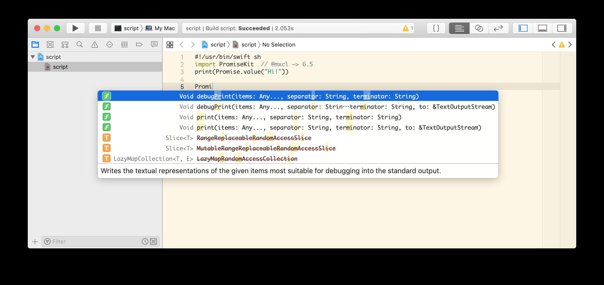xcode-scheme-script