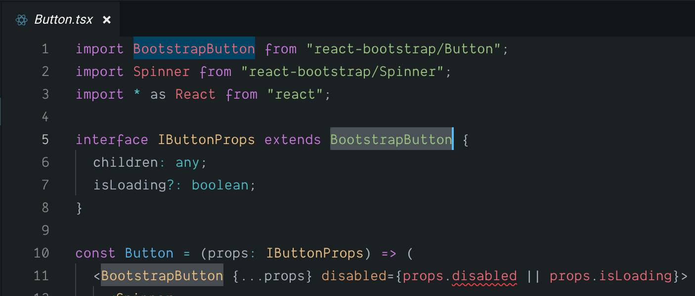 Extend react-bootstrap Button · Issue #4077 · react