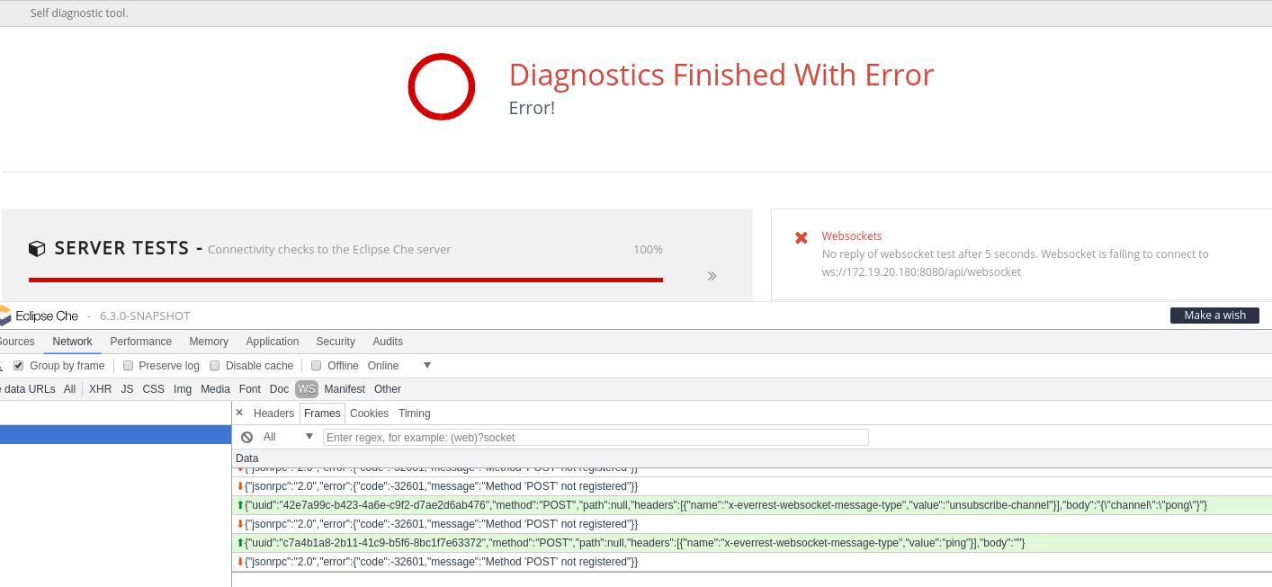 Diagnostics broken · Issue #9234 · eclipse/che · GitHub