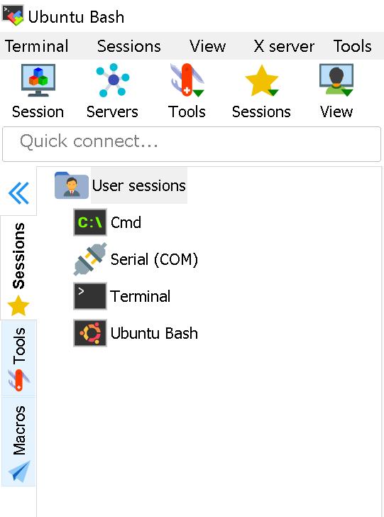 Mobaxterm and Windows 10 Ubuntu Bash · Issue #2248