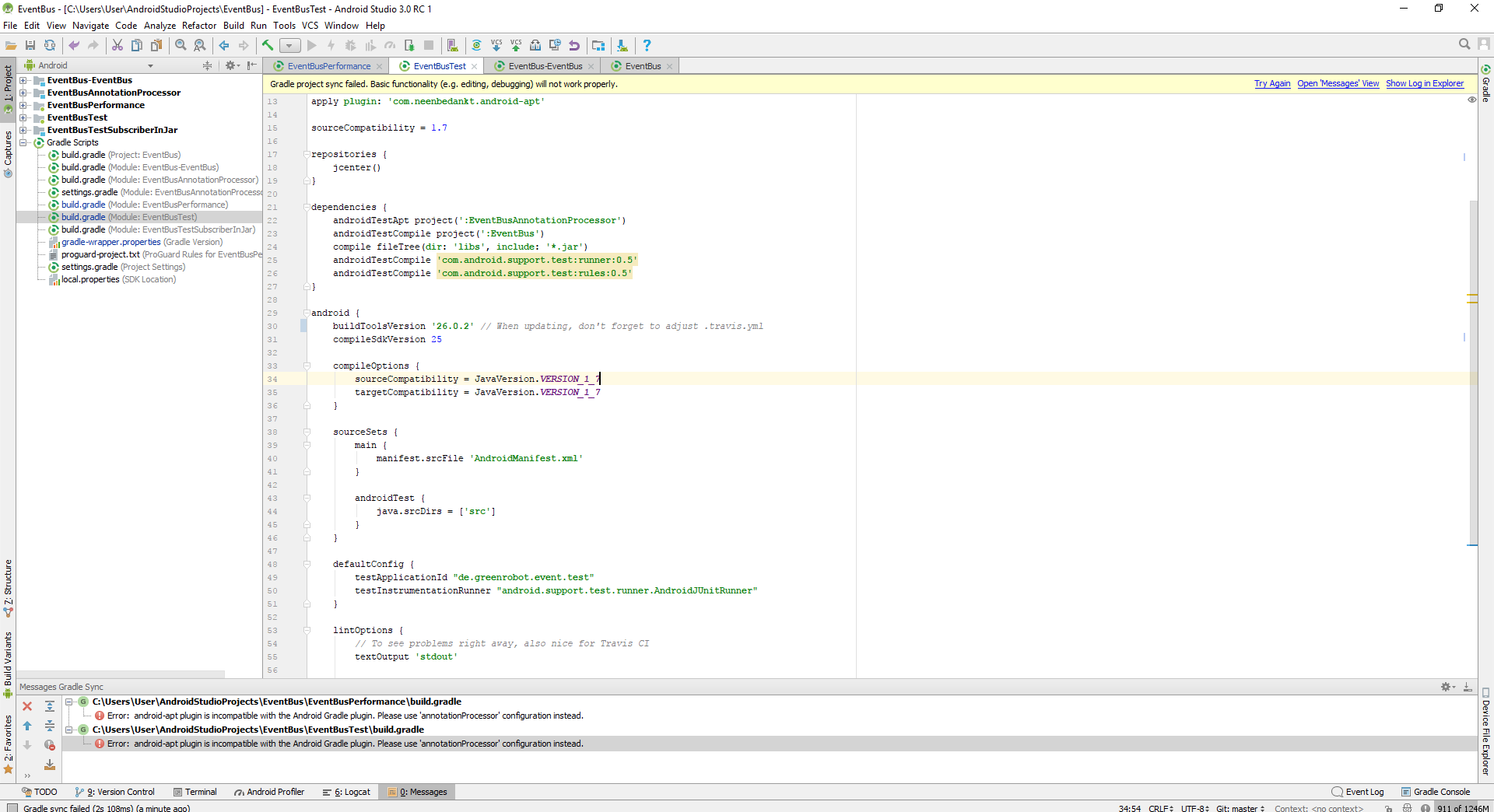 Can't import repo · Issue #479 · greenrobot/EventBus · GitHub