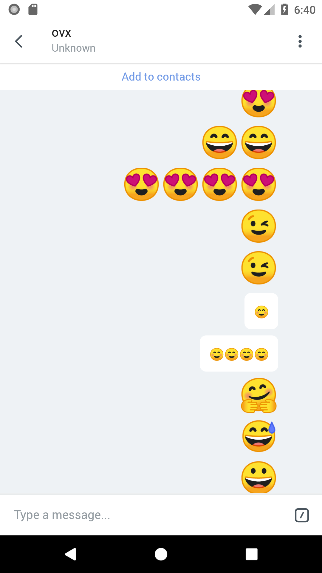 If a message contains only an emoji, show it without chat