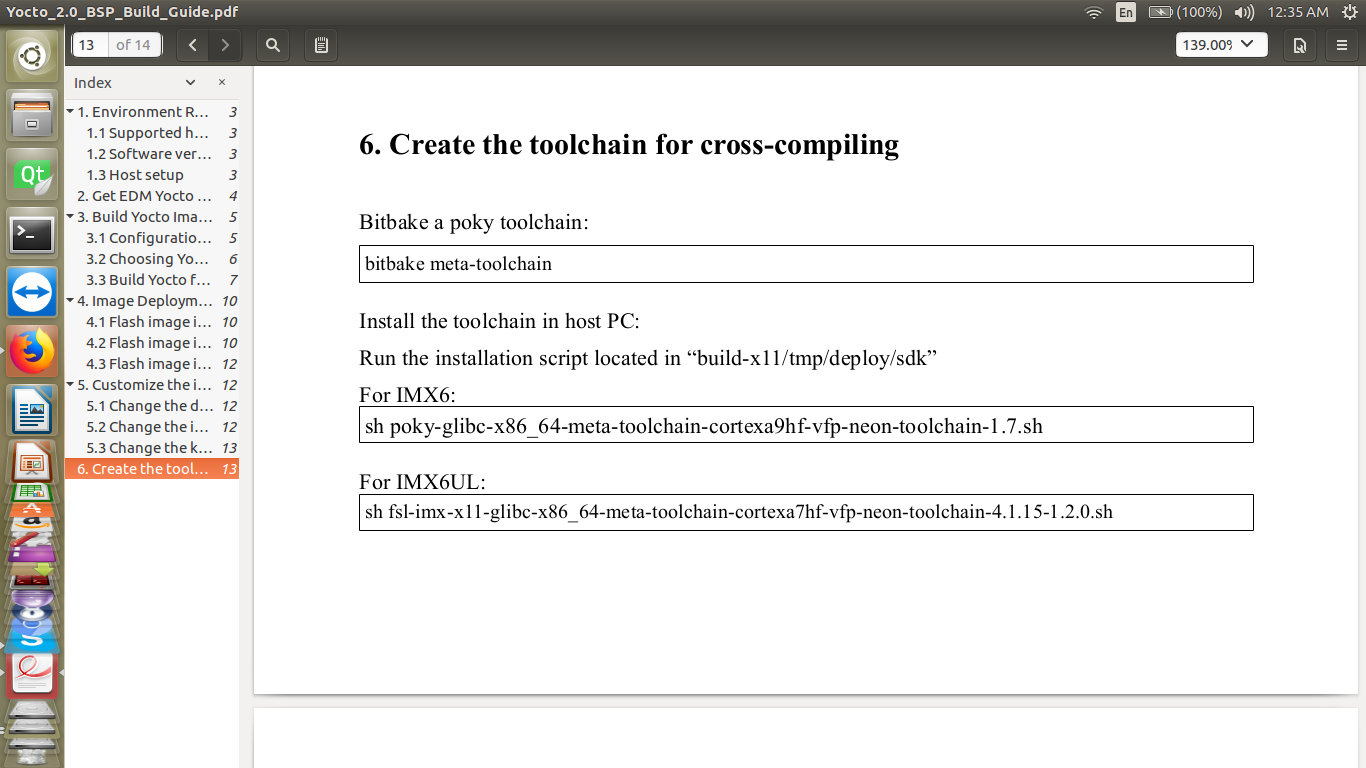 tool chain not generated in build-x11-pico/tmp/deploy/sdk