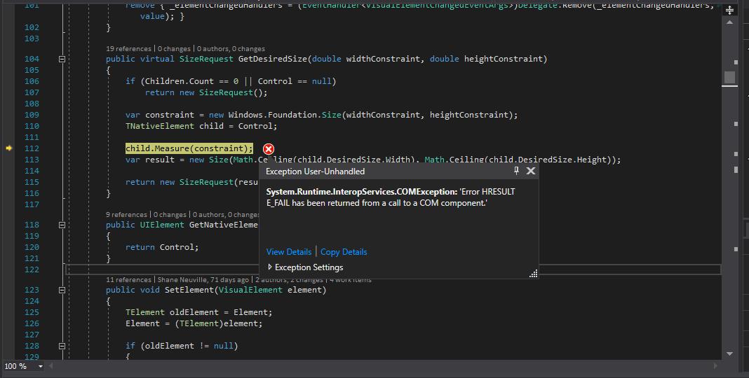 UWP] ActivityIndicator Gallery crashing with COMException · Issue