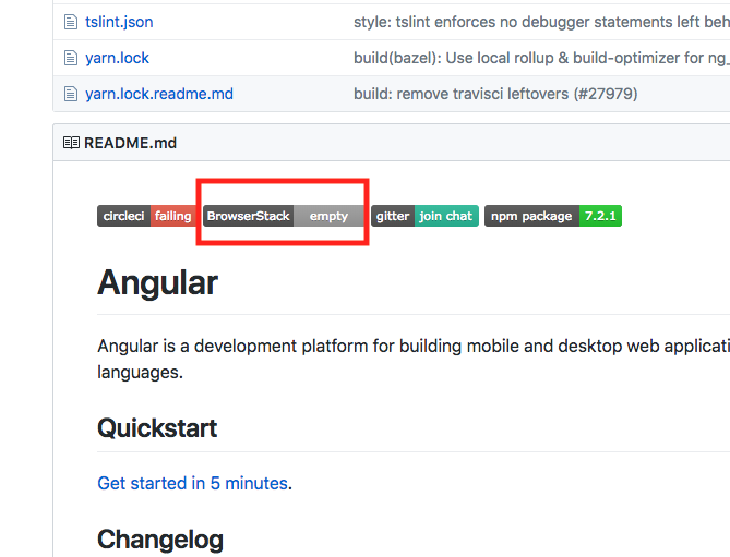 Incorrect BrowserStack status badge · Issue #28287 · angular/angular