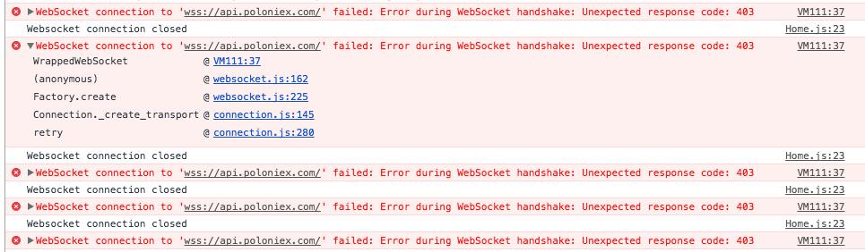 Wss: Error During WebSocket Handshake: Unexpected Response Code