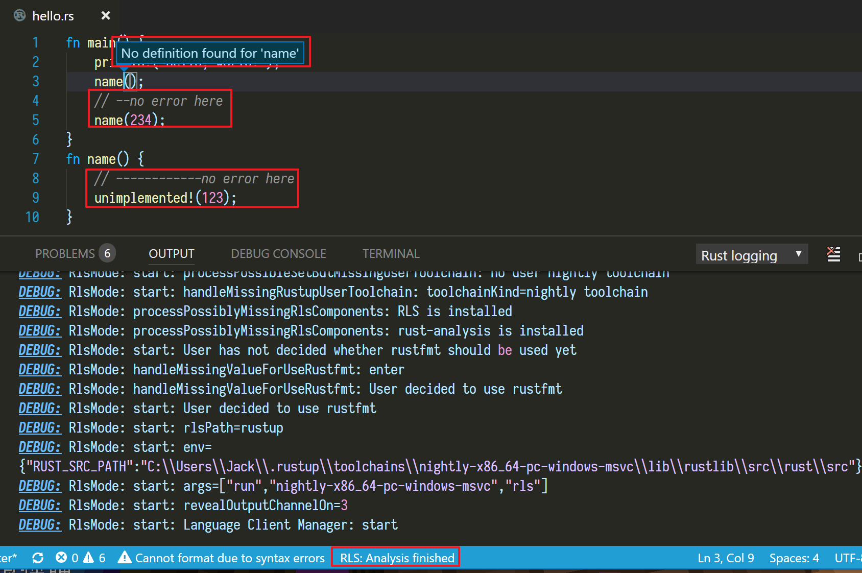 Unable to find any definitions in VSCode · Issue #674 · rust-lang