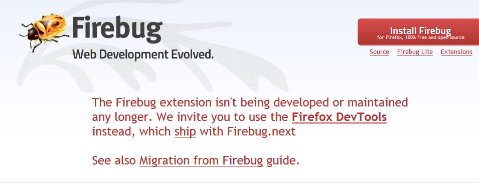 Firebug is not compatible to latest version of firefox(55) · Issue