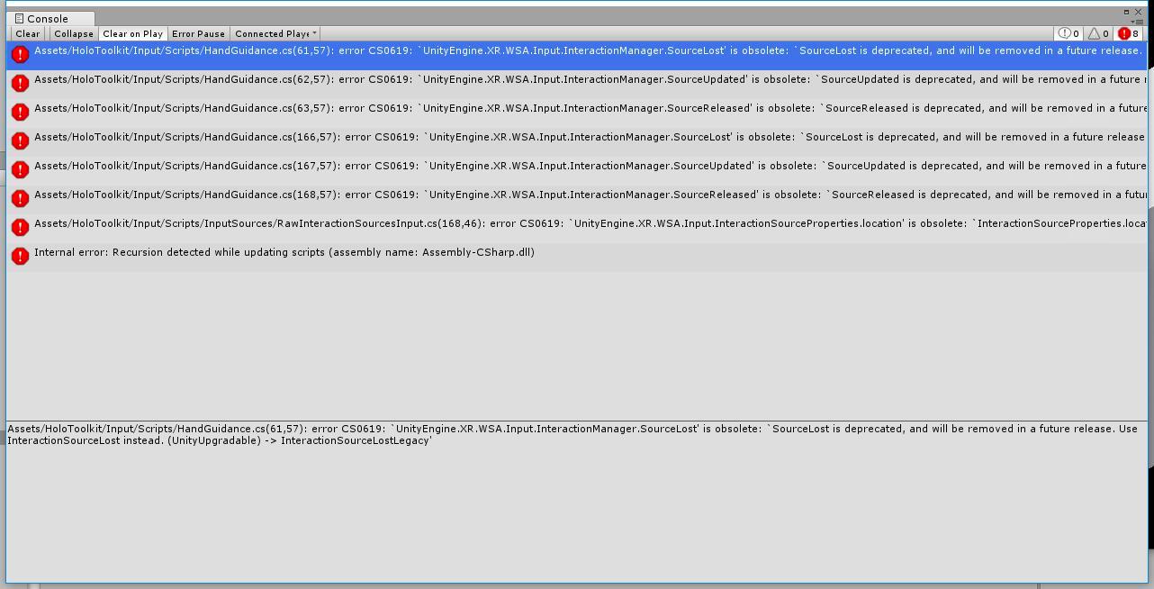 HandGuidance cs: error CS0619 · Issue #897 · microsoft