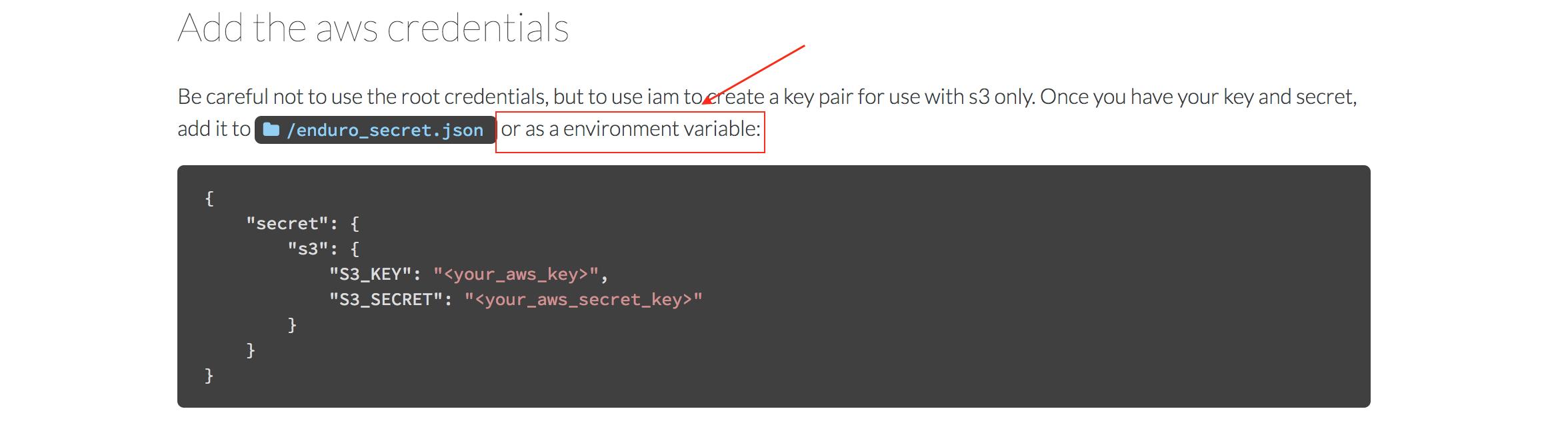 Use env variables in enduro_secret json · Issue #200