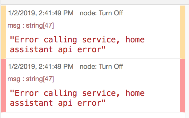 Error calling service, home assistant api error · Issue #70