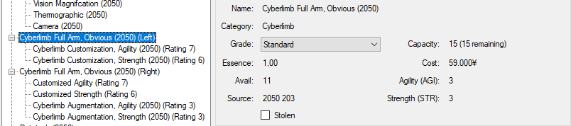 Arm Custom 2050