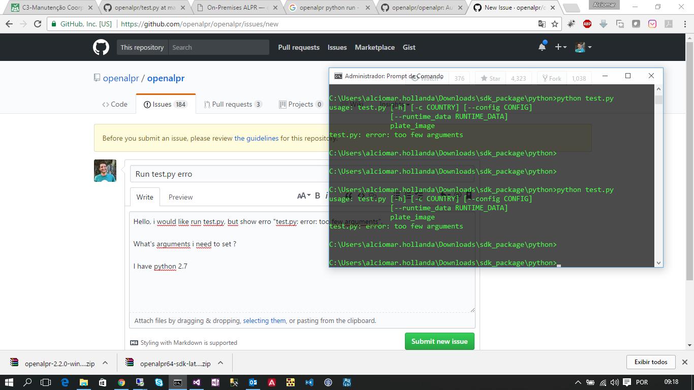 Error Run in JAVA, Python , C# · Issue #521 · openalpr