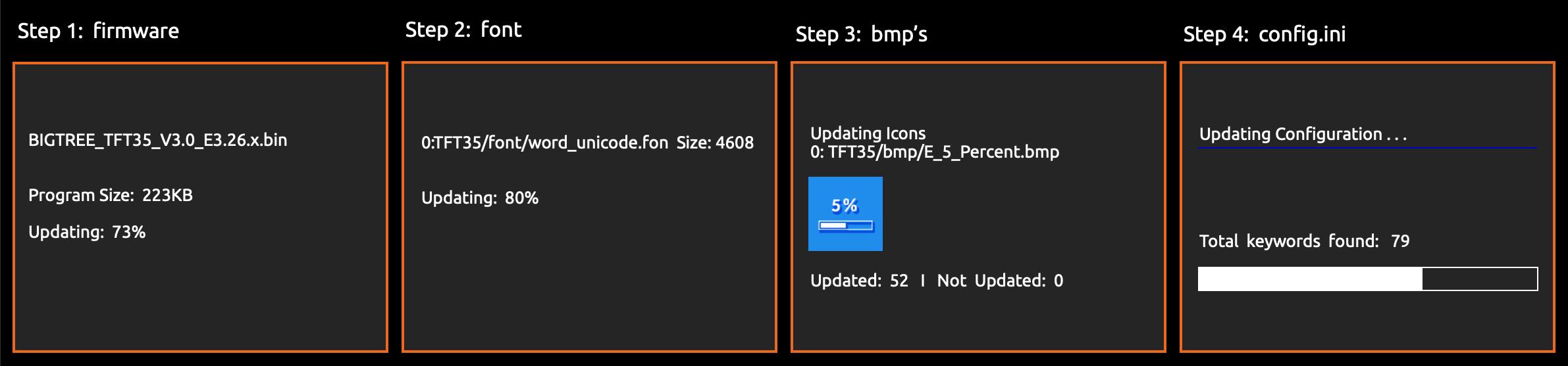 BTT Touch screen firmware update