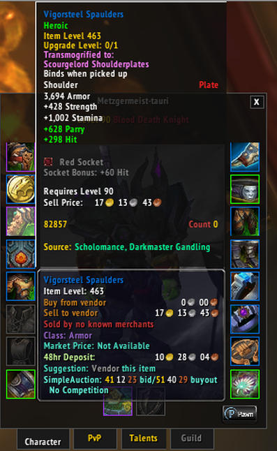 Inspecting shows wrong quality border (using transmog
