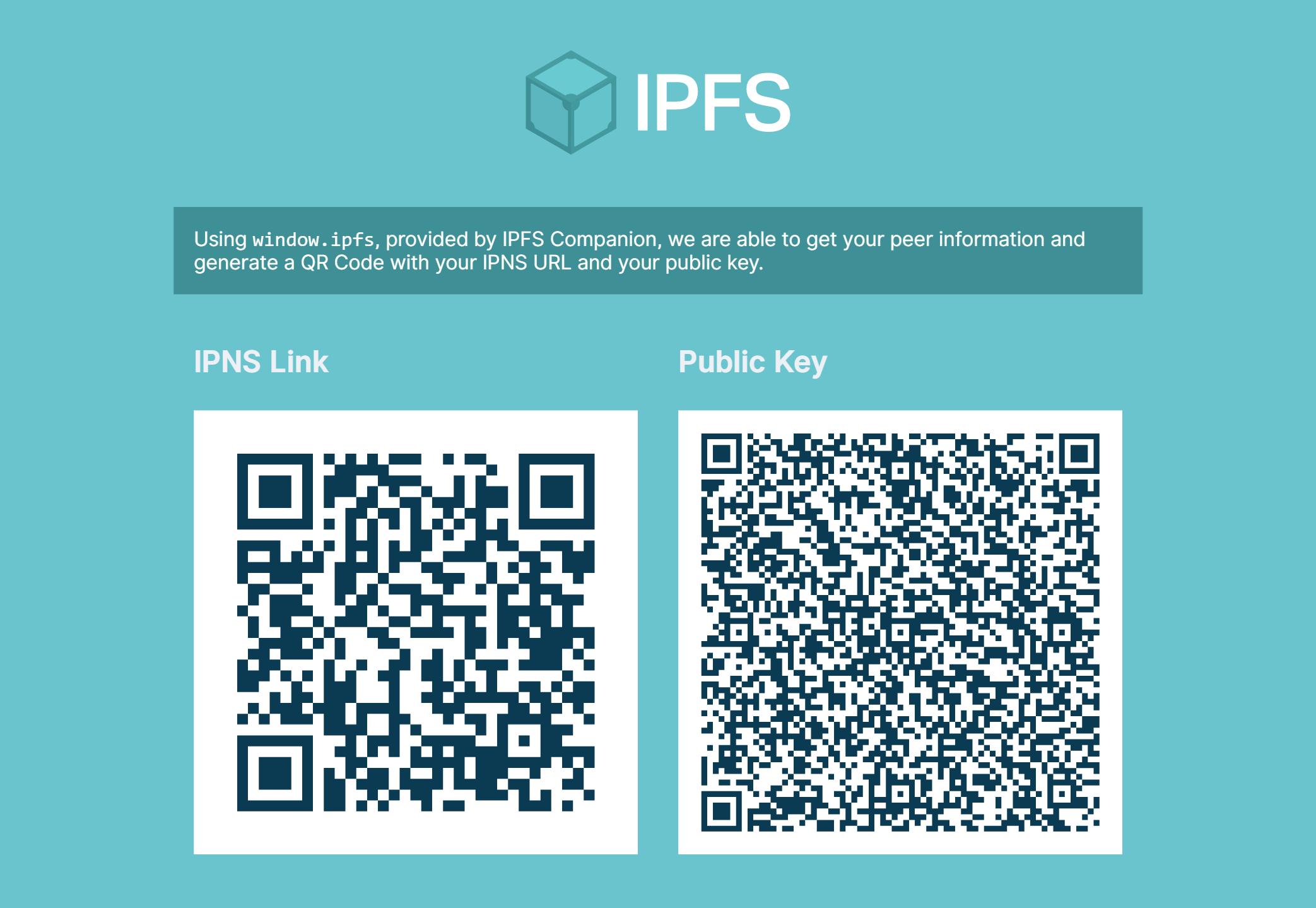 GitHub - ipfs-shipyard/demo-ipfs-id-qr-codes: Generates a QR