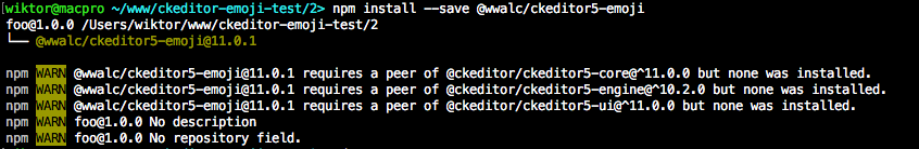 Make ckeditor5 a peer dependency of all other packages