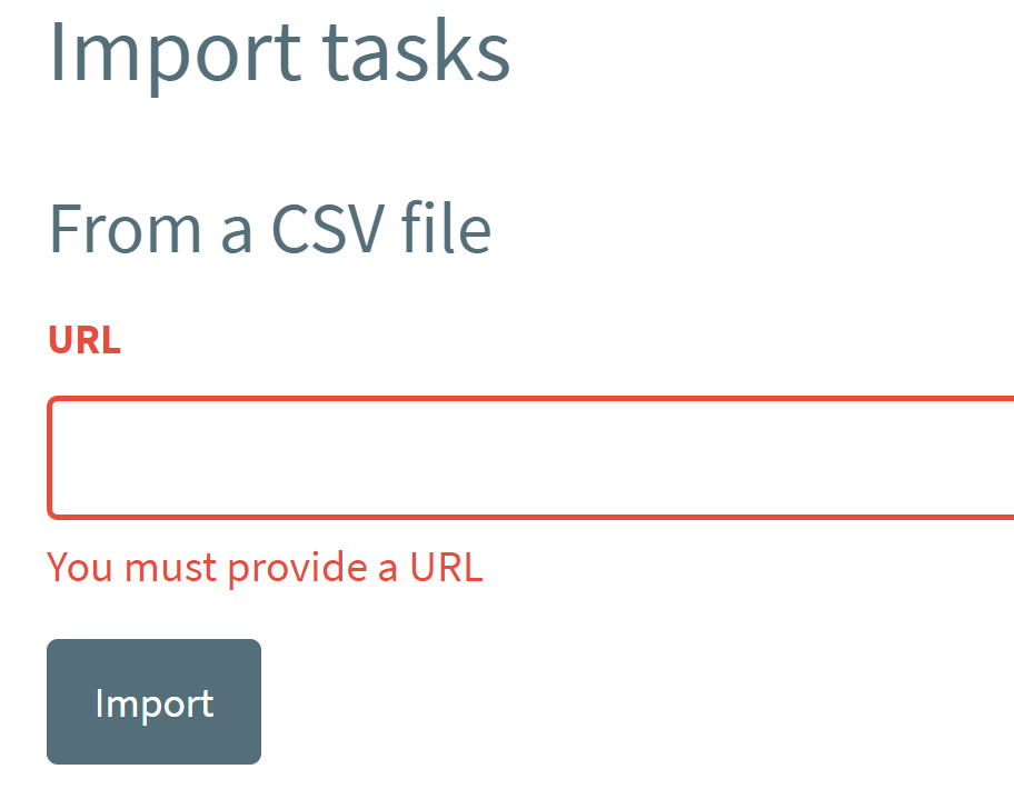 Allow upload of local CSV rather than from remote URL