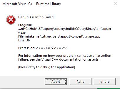 Run time error, Debug Assertion Failed! · Issue #804