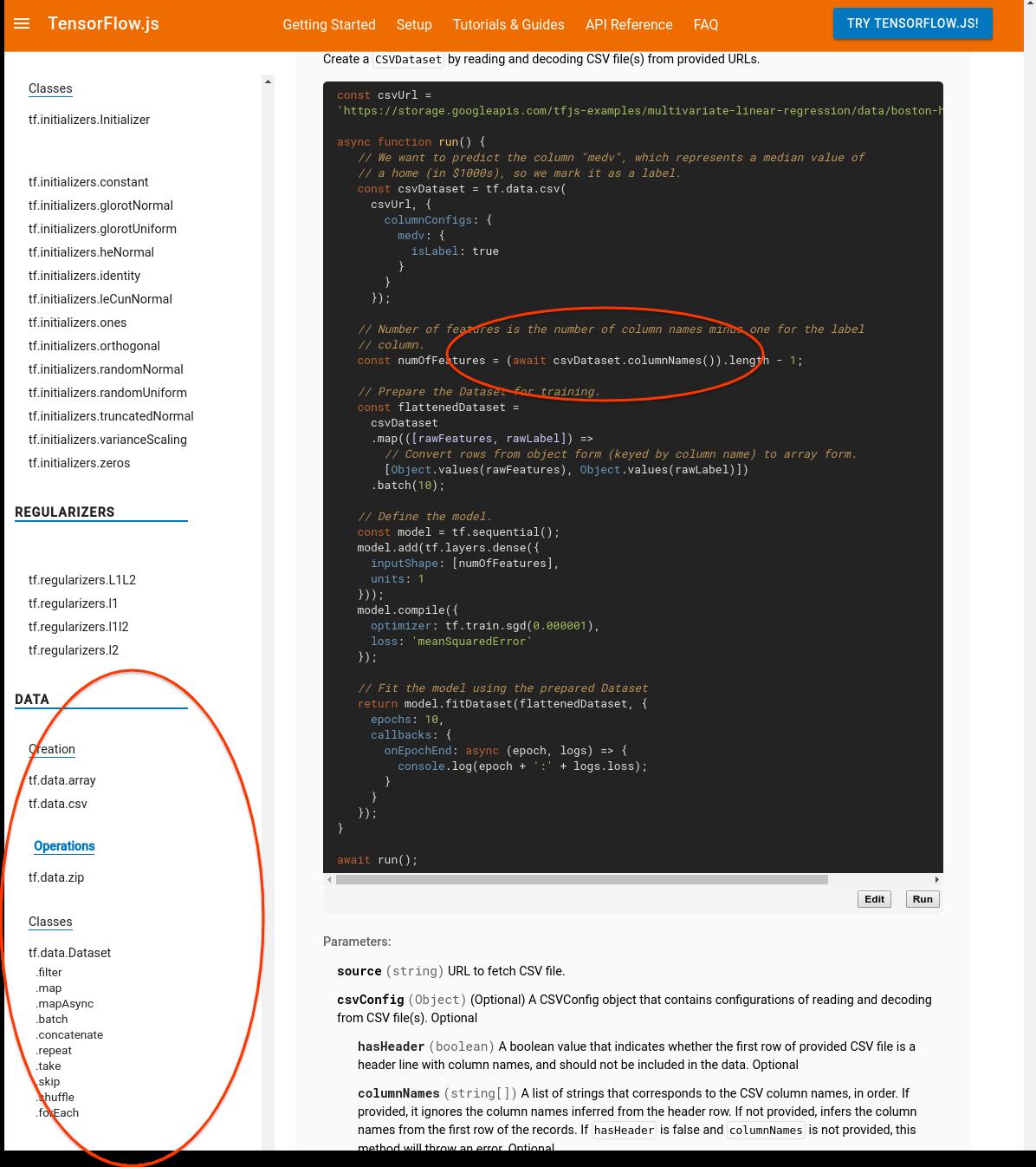 Undocumented exposed API : csvDataset columnNames() · Issue