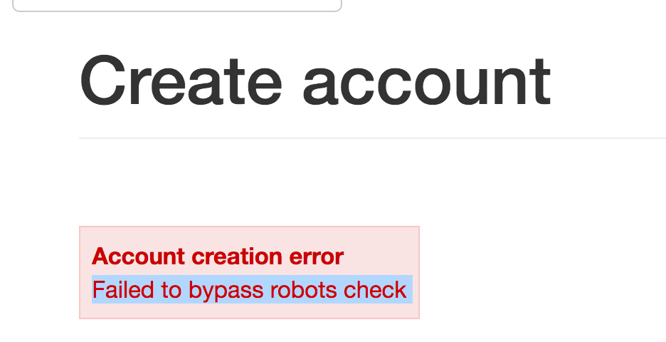 at signup: Failed to bypass ro...