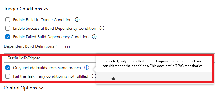Include Builds from Current Branch